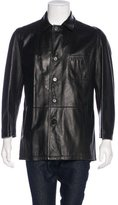 Bruno Magli Leather Car Coat