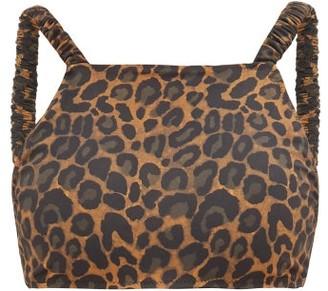 Fisch Tamarin Leopard-print Bikini Top - Leopard