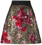 Dolce & Gabbana floral jacquard A-line skirt