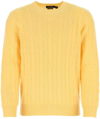 Mens Yellow Cable Knit Sweater Shop The World S Largest Collection Of Fashion Shopstyle