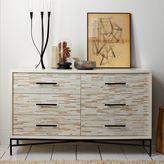 west elm Wood Tiled 6-Drawer Dresser