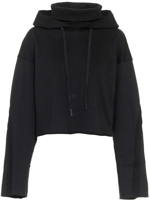 Alo Yoga Effortless cropped cotton-blend fleece hoodie