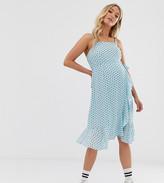Glamorous Bloom wrap cami dress in star print