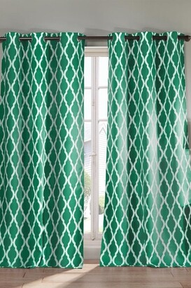 Duck River Textile Kittattinny Heavy Blackout Grommet Panel Curtains - Set of 2 - Emerald