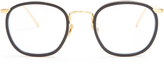 Linda Farrow Oval-frame yellow-gold plated glasses