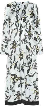 Schumacher Dorothee Tamed Florals silk-blend midi dress