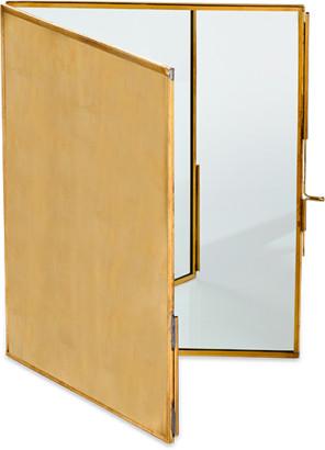 Nkuku Large Antique Brass Kiko Folding Mirror