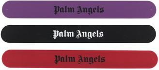 Palm Angels Set Of Three Logo-Print Bracelets