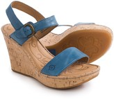 Børn Lenore Wedge Sandals - Leather (For Women)