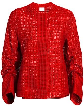 Akris Punto Mesh Grid Jacket