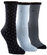 Calvin Klein Three-Pack Dot and Striped Crew Socks