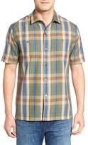 Tommy Bahama Men's Paratay Original Fit Plaid Silk Camp Shirt