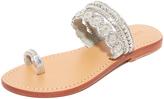 Mystique Silver Toe Ring Sandals