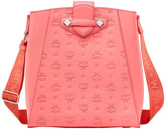 MCM Essential Small Monogrammed Leather Tote Bag
