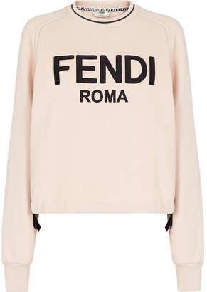 Fendi Roma bow-embellished sweatshirt