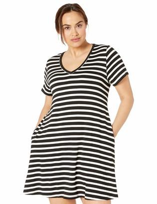 Karen Kane Women's Plus Size Quinn V-Neck Pocket Dress