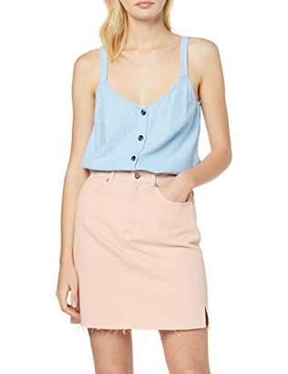 Vila CLOTHES Women's Visemah Singlet Vest, Powder Blue, 8 (Size: )