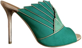 Malone Souliers Green Suede Sandals