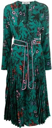 Diane von Furstenberg Floral-Print Wrap Midi Dress