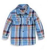 Tommy Hilfiger Little Boy's Jersey-Lined Plaid Shirt