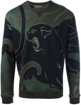 Valentino Rockstud panther print sweatshirt - men - Cotton/Polyamide - S