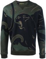Valentino Rockstud panther print sweatshirt