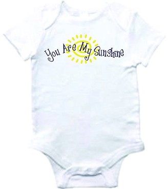 Design With Vinyl Baby Clothes you are my sunshine Bodysuit One-Piece Shirt Romper Creeper Outfit Novelty Romper Boutique Graphic With Sayings UNISEX Shortsleeve bab 238 3-6 Months