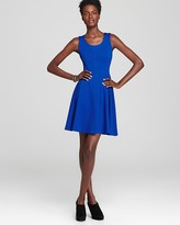 Aqua Ponte Fit and Flare Dress