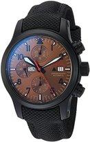 Fortis Men's 656.18.98 LP Aeromaster Dusk Chronograph Analog Display Automatic Self Wind Black Watch