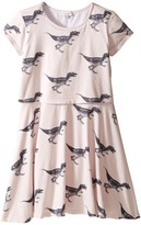 Paul Smith Short Sleeve Dress w/ Dino Prints Girl's Dress