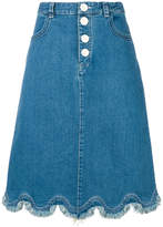 See by Chloe wavy hem denim skirt