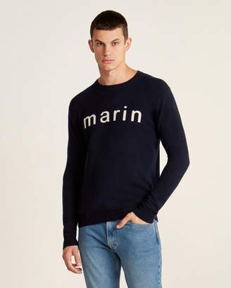 Le Mont St Michel Cashmere Marin Intarsia Long Sleeve Sweater