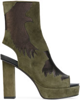 A.F.Vandevorst cut-out detail boots - women - Goat Skin/Leather - 36