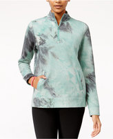Jessica Simpson The Warm Up Juniors' Tie-Dyed Half-Zip Jacket