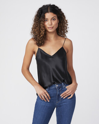Paige Cicely Cami With V Back-Black