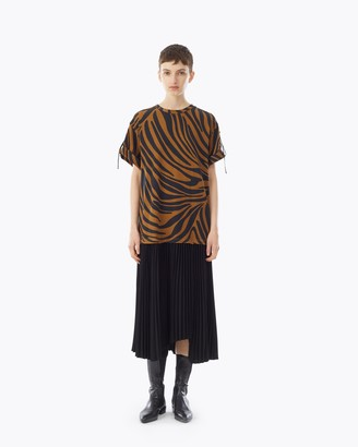 3.1 Phillip Lim pleated zebra print T-Shirt dress