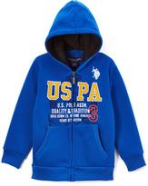 U.S. Polo Assn. Cobalt Blue 'USPA' Fleece Zip-Up Hoodie - Boys