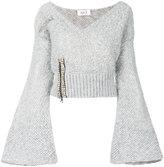 Aviu embellished V-neck jumper