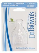 Dr Browns Dr. Brown's 6 Pack Natural Flow Level 2 Standard Nipple