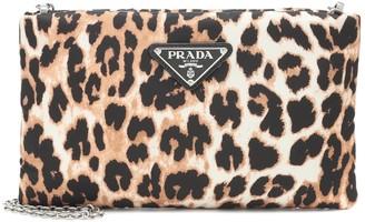 Prada Medium leopard-print nylon clutch