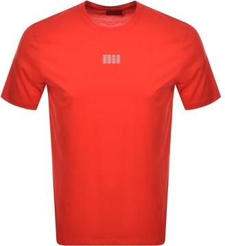 HUGO BOSS Dumed203 Crew Neck Short Sleeve T Shirt Red