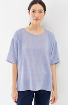 J. Jill Pure Jill Pintucked Seamed Top