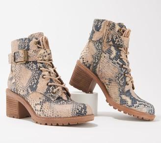Zodiac Leather Lace-Up Combat Boots - Gemma