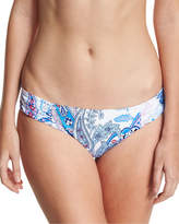 Tommy Bahama Paisley Leaves Shirred-Side Hipster Swim Bikini Bottom