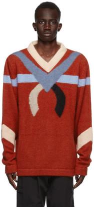 KIKO KOSTADINOV Red Intarsia Nolan Sweater
