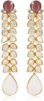 Opuline Cassie Rose Quartz Earrings