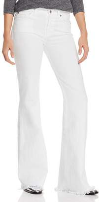 7 For All Mankind Ginger Flare Jeans in White Fashion - 100% Exclusive