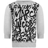 Little Marc Jacobs Little Marc JacobsBaby Boys Grey Graffiti Print Sweater