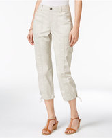 Style&Co. Style & Co. Petite Bungee-Hem Cargo Capri Pants, Only at Macy's