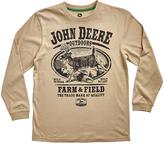 John Deere Khaki 'Farm & Field' Crewneck Tee - Boys
